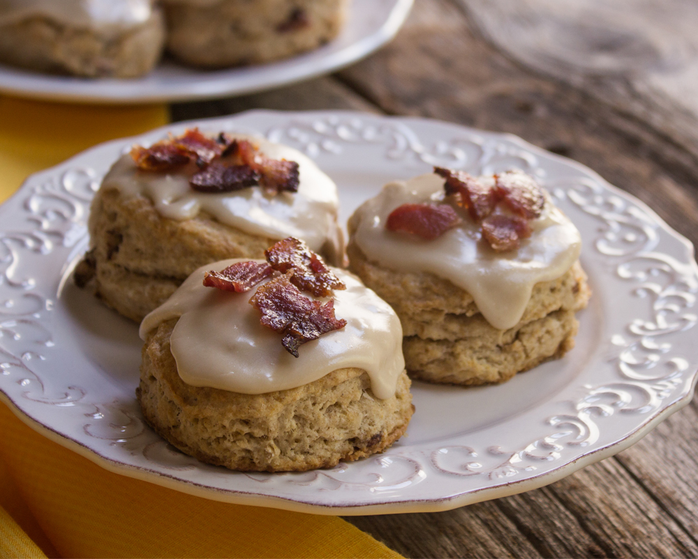 Scones à l'érable et bacon